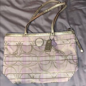 Adorable pastel coach handbag